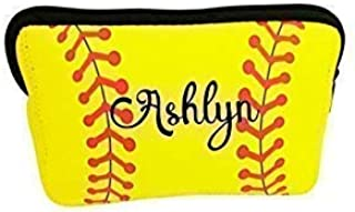 Personalized Makeup Bag Softball Team Gift for Girl Teen Player Mom Coaches
