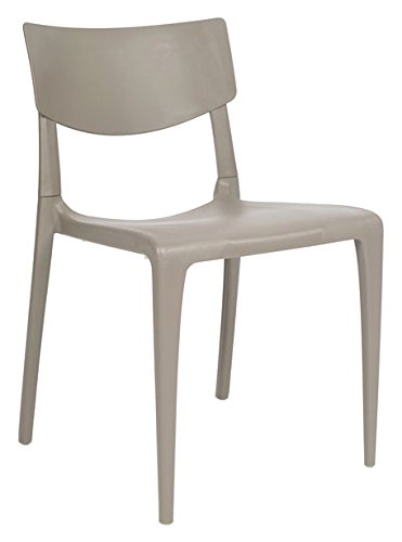 DCB GARDEN Town Chaise de Jardin, Taupe, 54,3x47x79,5 cm