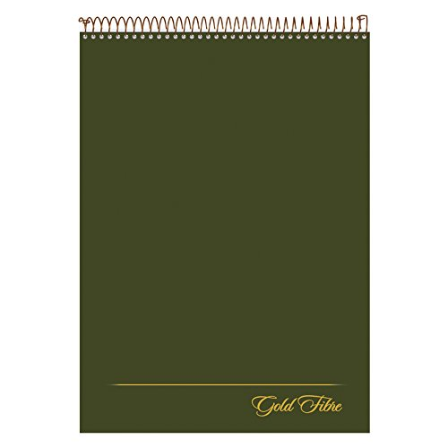 Ampad Gold Fibre Classic, Wirebound Planner Pad, Size 8-1/2 x 11-3/4, Red Cover, Legal Ruling , 70 Sheets per Pad (20-811),White