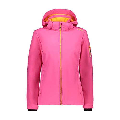CMP Damen Wind- und wasserdichte Softshelljacke WP 7.000 Jacket, Bouganville, D40