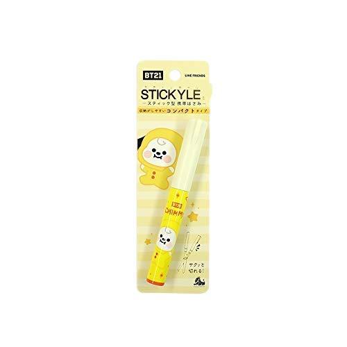 【公式】 BT21 公式 ハサミ 鋏 スティッキール Stick Scissor コンパクト 収納 携帯 はさみ 切る スティックはさみ かわいい (CHIMMY)