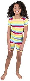 Leveret Striped Shorts Pajamas Kids & Toddler 2 Piece Pjs Set 100% Cotton Sleepwear (Toddler-10 Years)