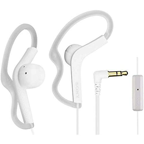 Sony Extra Bass Active Sports in Ear Ear Bud Over The Ear Splashproof Premium Headphones a Built-in mic Hands-Free Calls Snow-White (Limited Edition)