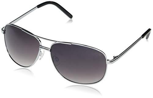U.S. Polo Assn. PA1012 Metal UV Protective Aviator Sunglasses | All-Season | A Classic Gift, 63 mm, Silver & Black