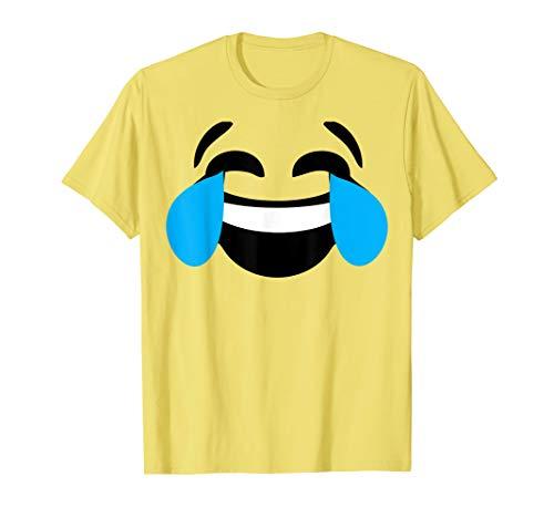 Emoji Halloween Costume Laughing Tears of Joy Emoji Yellow
