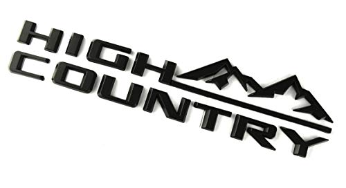 High Country Namteplate Emblem 3D Badge Fender Rear Tailgate Sticker Replacement for Silverado Sierra (Black)