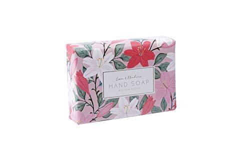 Bloemen Design Hand Verpakt Milieuvriendelijk 100% Plantaardige Dusky Roze | 100g Citroen & Mandarijn Zeep Gemaakt in het Verenigd Koninkrijk | Van CGB Giftware's Willow en Rose Floral | Moederdag | GB04833