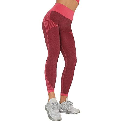 Temporada de Verano Gym Yoga Pantalon Rojo Gym Yoga Slim Cintura Alta Yoga Mallas Deportivas para Gimnasio
