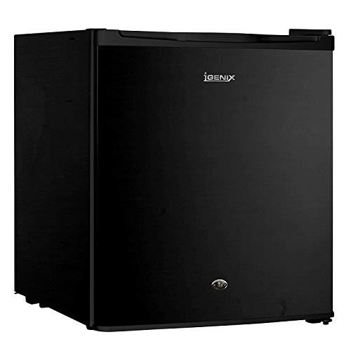 Raxinbang Mini frigoriferi Wawa Table Top Frigorifero con 47 Litri capacità, 4 Litri Scomparto Freezer, 1 ripiano, Reversibile e con Serratura della Porta, in Acciaio Inox (Color : Black)