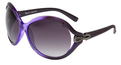 Schöne Marken Sonnenbrille für Damen von Burgmeister mit 100% UV Schutz | Sonnenbrille mit stabiler Polycarbonatfassung, hochwertigem Brillenetui, Brillenbeutel und 2 Jahren Garantie | SBM104-351