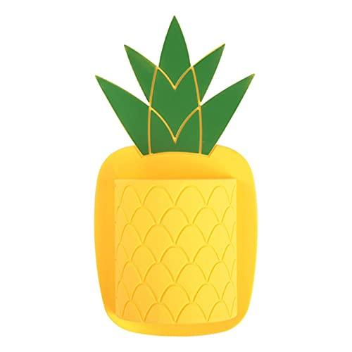 UKKD Porta Cepillo De Dientes Silicona Fruits Pared Cepillo De Dientes Cepillo De Dientes Tenedor De Pasta De Ducha Baño Organizador Frigorífico Almacenamiento