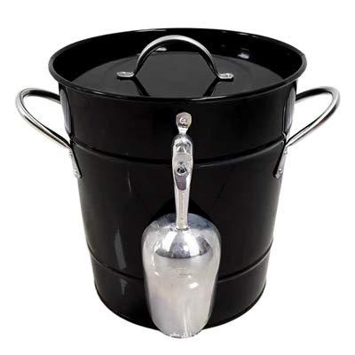 [Cubo de hielo y aislado de hielo cubo de acero galvanizado] - cubo 1. hielo con tapa de aluminio y lámina, cómodo y práctico. La tapa coincidente es perfecto para preservar el frío en el interior del cubo. 2. hielo Bucke consiste en hierro de alto g...