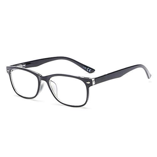 Suertree Anti-blaue Lesebrillen Sehhilfe Augenoptik Feder Scharnier Brille Lesehilfe für Damen Herren von 3.0x BM161