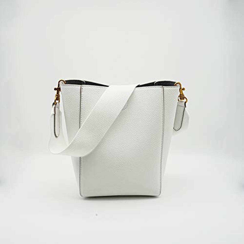 WANGZHAO Single Shoulder Bag, Satchel Bag, Female Bag, Bucket, Bag, New, Simple, Hot Lady Trend,White