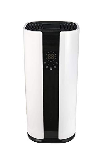OULUN Eurgeen Portable Touch-Screen 6 Gallons(50 Pints) Home Piston Dehumidifier Dryer Whisper Quiet for Home largerooms Basement with Fan Wheels and Drain Hose Moisture Remover Dehumidifier