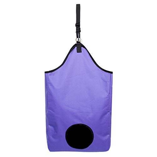 Perfeclan Slow Feed Hay Bagage Haylage Storage Feeder Pouch Tote Outdoor équitation équipement De Performance - Violet, 33cm
