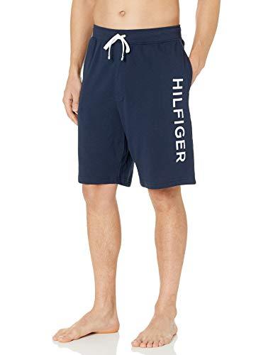 Tommy Hilfiger Men's French Terry Lounge Short, Dark Navy/Hilfiger Logo, XL