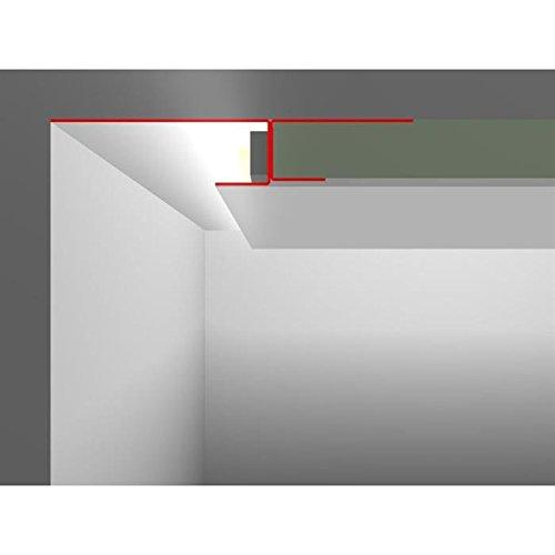 LED Trockenbau Profil SNL mit Sichtschenkel 80mm (Länge: 2m) ; Rigips