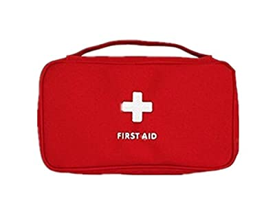 First Aid Kit Mini Medical Bag Travel Portable Drug Pack Red from RedColory