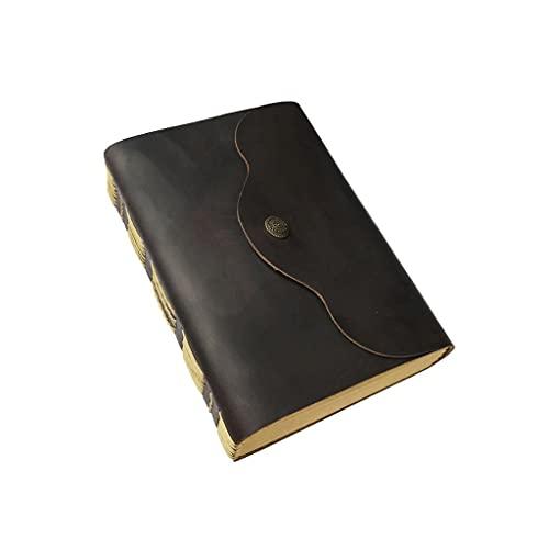 Cuaderno clásico Diario de Cuero Escritura Libro Diario Cuaderno para Mujeres Hombres Diario Diario Revista Hecho a Mano Vintage Bloc de Notas en Blanco Dentro de 360 páginas