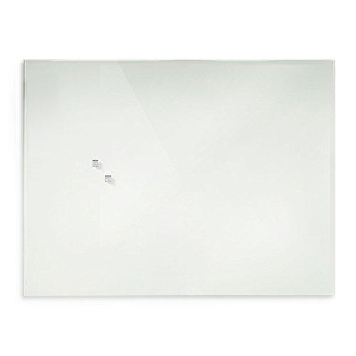 casa pura® Glasmagnettafel im modernen Design | beschriftbar & magnethaftend | weiß | in 5 Größen | 30x45cm