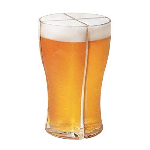 Primlisa Juego de vasos de cerveza 4 en 1 para fiesta de cumpleaños, jarra de cerveza, jarra de cerveza, jarra de cerveza, combinación de copas de vino, perfecto para casa, restaurante de hotel y bar