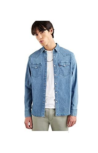 Levi\'s Herren Barstow Western Standard Shirt, Blau, L