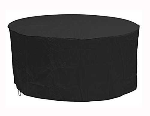 NANKAN Furniture Protector Staubschutz Garten, Oxbridge Black Large Round Patio Gartenmöbel Set Abdeckung 2,30 m x 1,1 m / 7,5 ft x 3,6 ft