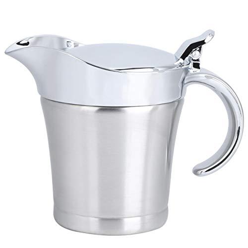 450 ml 304 de acero inoxidable de doble capa de aislamiento con sabor a salsa olla salsera jarra para servir utensilios de cocina