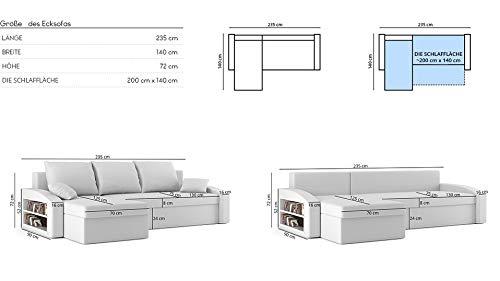 Ecksofa Couch – Schlafsofa mit Regal kaufen  Bild 1*
