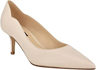 Nine West Women's Abaline Pump, Ivory Leather, 8