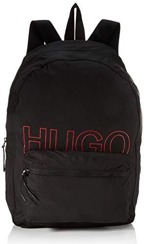 HUGO Herren Reborne_Backpack Rucksack, Black1, ONESI