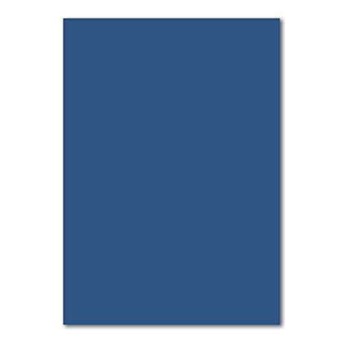 50x DIN A4 Papier Planobogen -Nachtblau - 110 g/m² - 21 x 29,7 cm - Bastelbogen Ton-Papier Fotokarton Bastel-Papier Ton-Karton - FarbenFroh®