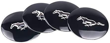4 piezas, Ford Mustang 56mm Tapa de buje central para rueda de coche, cubiertas con pegatinas con logotipo, molduras, accesorios para coche