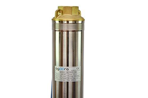 Grandmaster – Bomba De Agua Sumergible Para Pozo, 1500W/2CV, 10.62m3/h, Acero Inoxidable, Profundidad Máxima 84m, Cable…