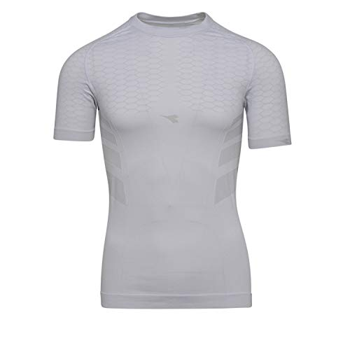 Diadora Maglia Intima Termica Manica Corta Hidden Power SS T Shirt Act (S/M, White)