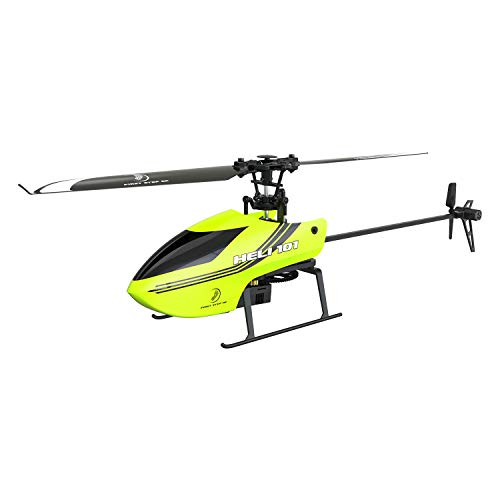 FIRST STEP RC Heli 101 RC Helicopters for Beginner 6 Axis Gyroscope Helicopter Toys for Boys with Remote Control Helicopters-RTF (Yellow)