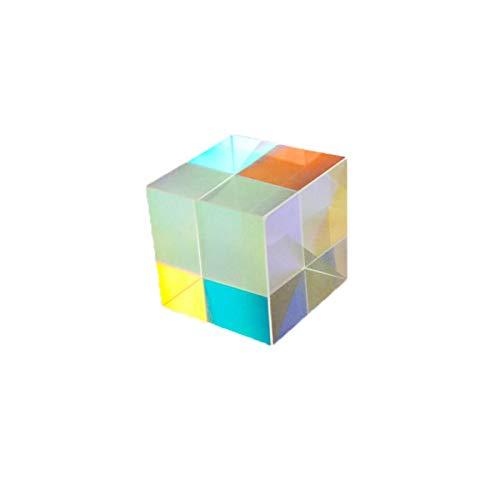 Prisma de vidrio óptico de 12,7 mm Prisma de dispersión RGB Física Espectro de luz Modelo educativo Toma de fotografías al aire libre Filtro de cámara Herramienta de fotografía fotográfica