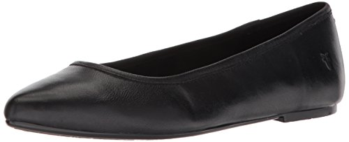 Frye Women's Regina Ballet Flat, Black Soft Leather, 8 M US