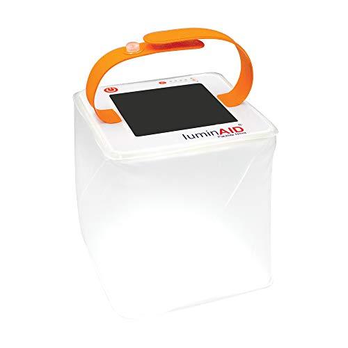 Linternas inflables solares de LuminAID | Ideal para acampar, kits de emergencia y viajes | Blanco, alimentado por energía solar o USB