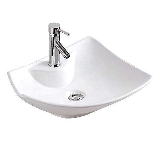 Waschbecken Design Aufsatzwaschbecken Waschschale Waschtisch Eckig 485 * 385 * 140 mm (5200Neu) von Art-of-Baan®