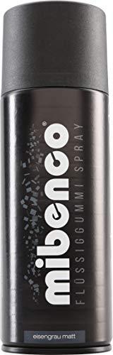 mibenco 71427011 Flüssiggummi Spray / Sprühfolie, Eisengrau Matt, 400 ml - Neue Farbe und Schutz für Oberflächen und zum Felgen lackieren