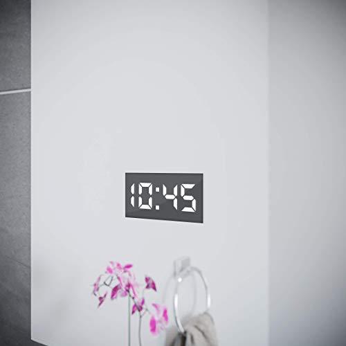 Spiegel ID ZUSATZOPTION für LED Badspiegel | Digital Uhr (24 Stunden Anzeige) | Position: unten mittig