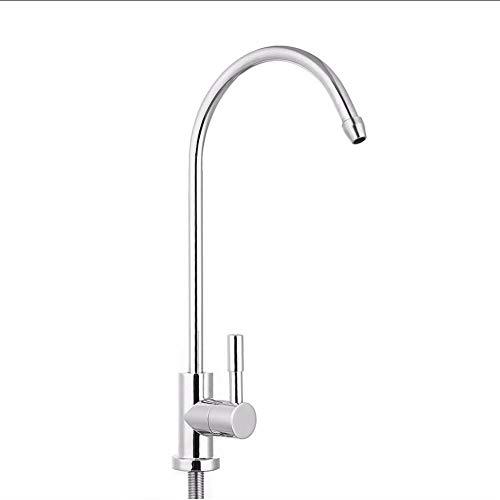 Waterkraan 1/4 inch keuken chroom omgekeerde osmose drinkwaterfilter wastafel waterkraan keukenkraan thermostaat waterkraan dek installatie