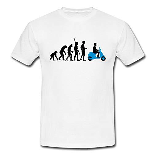Evolution Vespa Männer T-Shirt, M, Weiß