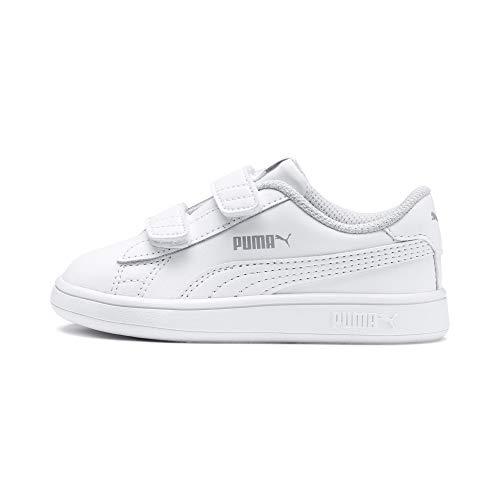 PUMA Unisex Baby Smash v2 L V Inf Sneaker, White White, 25 EU
