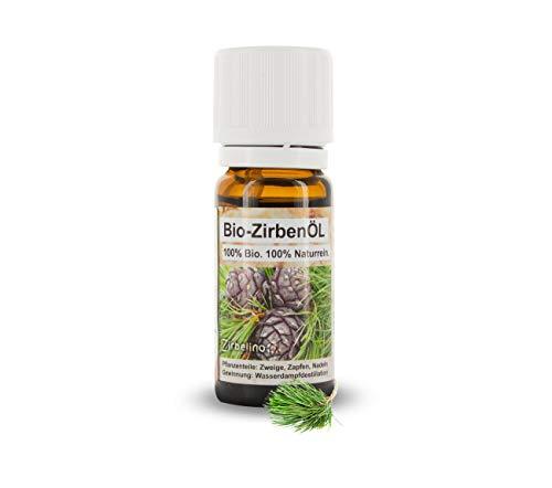 Zirbenöl - 10ml - Bio zertifiziert | ätherisches Zirbelkieferöl, bio | für Diffuser, als Duftöl, Aroma | [Zirben]