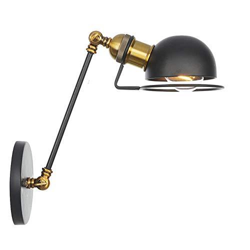 CUTANZI Apliques de Pared Industrial Lámpara de Pared Ajustable Luz de Metal...