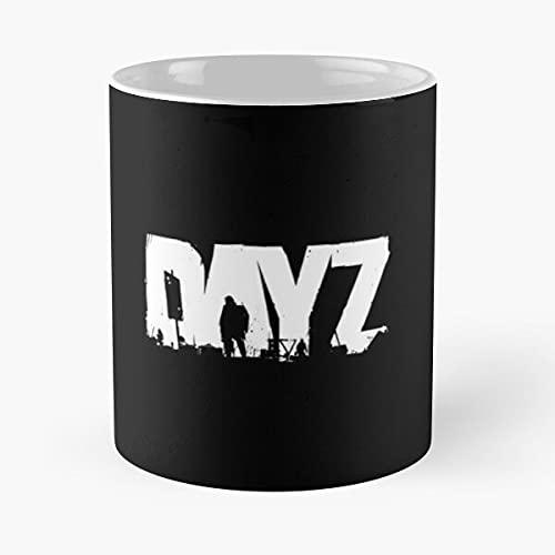 DayZ - Taza de café de cerámica de mármol blanco de 11 onzas