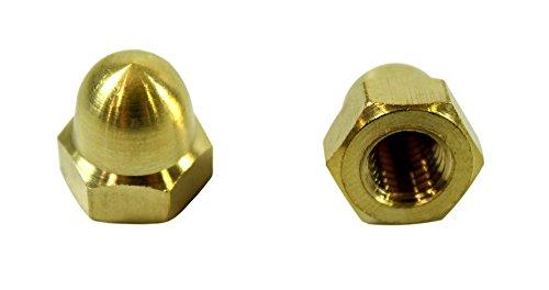 SN-TEC Messing Hutmuttern/Kappenmutter M12 DIN 1587 (10 Stück)